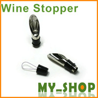 Wholesale Red wine champagne stainless steel pouring device cork wine stopper in wine pourer