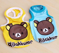 Wholesale Summer new lovely cartoon PETCO Rilakkuma vest Dog cotton T shirt Clothing Pet Clothes