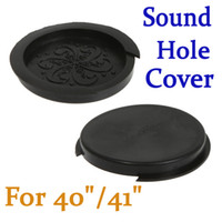Wholesale Sound Hole Cover Block Plug Screeching Halt for quot quot EQ Acoustic Guitar Black Brown I142 Free Sh