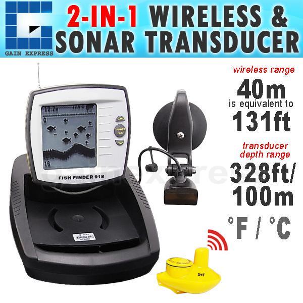 ff-918 digital 2in1 wireless sensor boat fish finder fishfinder, Fish Finder