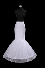 Wholesale Mermaid Petticoat slip Hoop Bone Elastic Wedding Dress Crinoline Trumpet