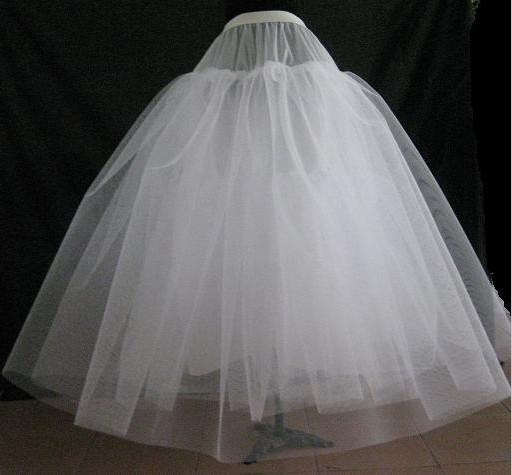 Four tulle net ivory ball gown petticoat for wedding for Tulle petticoat for wedding dress