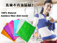 Wholesale New Kitchen Furniture Table Bamboo Fiber Wash Cloth Washing Dish Wipes