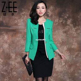 Wholesale 2013 spring small suit jacket wrist length sleeve formal slim female suit zee538