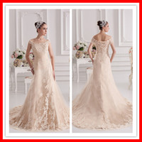 2013 New Desinger A- line Princess Off- shoulder Champagne Lon...