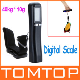 Wholesale 40kg g Portable Weight Hanging Handheld Backlight LCD Display Digital Electronic Luggage Scale for Travel Black H9428