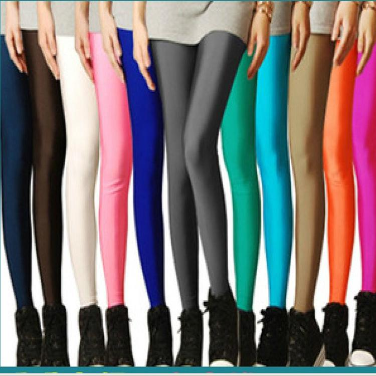 2013 brand new neon candy color leggings plus size pants women high stretched tights 28 colors - Buy Candy By Color