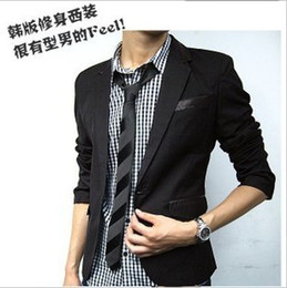 Wholesale autumn male blazer one button suit slim suit blazer jacket male