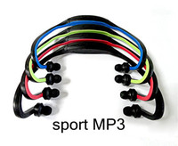 Wholesale Wireless Sport MP3 Player Wrap Around Headphones Digital with TF card slot colors MUSI0083