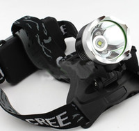 Wholesale 10pcs Lumens CREE XM L T6 LED HeadLight Rechargeable Headlamp Bike Bicycle Light Charger Waterproofing Design