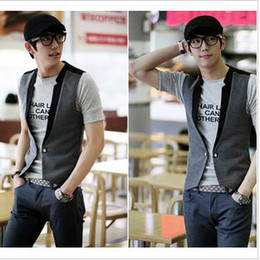 Wholesale Summer and the new big yards Men Korean version of the suit collar leisure Gilet