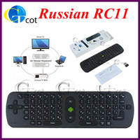 Wholesale RC Russian Measy Fly Air Mouse Wireless Keyboard G for PC Android TV Box Smart TV Note Book
