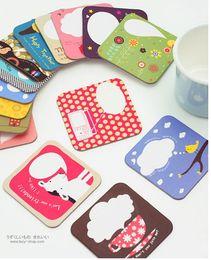 Wholesale Cardboard Cartoon Paper Cup Coaster Popular Cup Mat amp Cup Pad