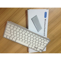 Wholesale black and white Ultra Slim Aluminum Wireless Bluetooth Keyboard iPad nd rd Gen Macbook Mac Computer PC