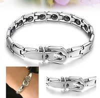 Wholesale New Grains Magnetic Therapy Stainless Steel Bracelet Fashion Women