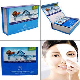 Wholesale face care g Snail mucus regeneration repair facial mask stickers anti aging regeneration elim