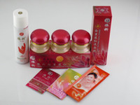 beauty travel sets - Hot sale YiQi Beauty Whitening Set Effective In Days Facial Cleanser Red Cover Free Shippin