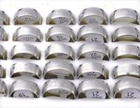 Revisiones Alto acero inoxidable pulido-50% OFF 36Pcs alta joyería de acero inoxidable pulido anillo de acero Band Anillos amantes de la manera Anillos Hombres de acero [SR165 * 36]