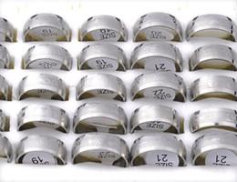 Descuento alto acero inoxidable pulido 50% OFF 36Pcs alta joyería de acero inoxidable pulido anillo de acero Band Anillos amantes de la manera Anillos Hombres de acero [SR165 * 36]