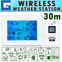 Household Temperature Sensor R01AOK-5019 R01AOK-5019 Digital Wireless Weather Station Indoor Outdoor Thermometer Temperature Humidity w RCC Radio Controlled Clock +C F & RH Display