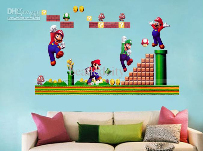 Funlife Classic Retro Game Super Mario Bros Wall Sticker