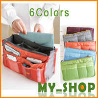 Wholesale Travel Multi function package Makeup MP3 Phone Storage Organizer Sundry Bags Cosmetics Receive Package Multi Two Zipper Bag Dual Bag in Bag