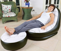 Wholesale Single air chaise lounge cheap inflatable leisure sofa chair sofa bed