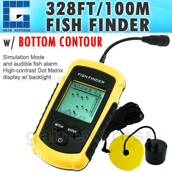 ff-1108-1 portable sonar lcd fish finder fishfinder alarm 100m, Fish Finder