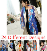 Wholesale Big size Square cm cm Lady s scarf Women s Soft Silk muffler Female Bandelet Neckerchief Tippet Girl s Shawl Wraps scarves colors