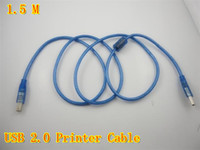 Wholesale 1 M USB Printer Cable blue data cable printer line high quality up