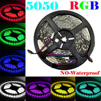 Wholesale No waterproof Led Flexible Strip RGB M SMD led Meter Led Strip without IR Remote Led Controller