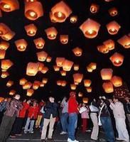 30PCS souhaitant lanternes KongMing lanterne volant lumière chinoise souhait lumière flamme ciel vente chaude