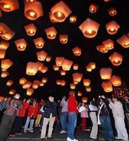 Wholesale 30PCS Wishing Lanterns KongMing Lantern Flying Light Chinese Wish Light Flame Sky hot sell