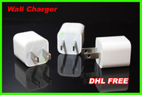 Wholesale 1000pcs travel USB Wall Charger US EU Standard For iPhone S GS G iPod AC USB Power Adapter