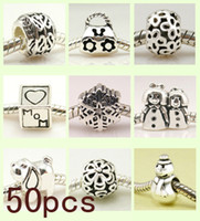 Wholesale Gift Fit European bead charm Mix Sterling Silver Bracelet