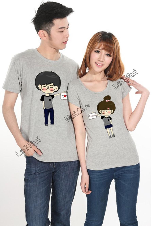 men women couple 2013 tops t shirt summer fashion Casual clothes brand