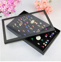 Wholesale Box Slots Jewelry Rings Paper Display Holder Organizer Showcase Tray Box Case