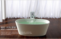 Wholesale solid surface single person freestanding Bathtub corian bathtub