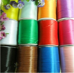 Wholesale 1 quot about mm nylon satin ribbon Packing ribbon gt colors TS1355 MOQ color Y