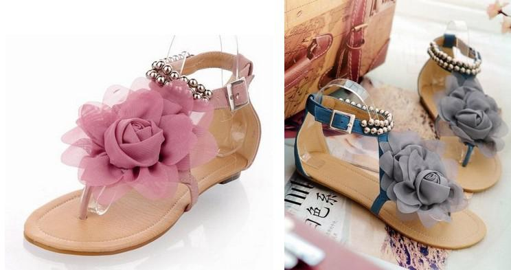 Thong sandals. These sandals are considered as basic staples in every woman's summer wardrobe. The best thing about this footwear is that you can easily