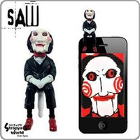 al por mayor aserrín-El enchufe anti del enchufe del JACK de la muñeca de la marioneta de la muñeca de la marioneta 3D de 3.5mm Plugy para el iPhone Samsung HTC Blackberry jess