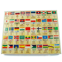 Wholesale Flag and Currency Domino Blocks Wooden Toy Learning and Educational Toys Best