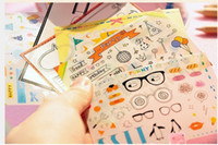 Wholesale 2013 New Sheets In A Set Mixed Korean Style Cute Stickers DIY Decoration Stickers Photo Stickers