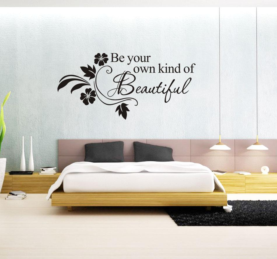 Wall decor vinyl words quotes room ornament for Room decor ideas quotes
