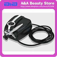 Wholesale Portable Makeup Airbrush Mini Air Compressor Speed Airbrush tattoos hours Working