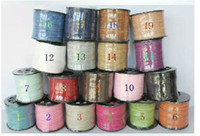 Wholesale DIY MM yards Flat String Imitation Leather Velvet Cords Ropes Lines Wires Findings Accessories