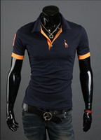 Men casual shirts for men - 2013 new Polo Shirt For Men Luxury Casual Slim Fit Stylish Short Sleeve Cotton T shirt Colors