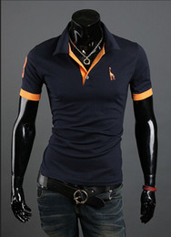 Wholesale 2013 new Polo Shirt For Men Luxury Casual Slim Fit Stylish Short Sleeve Cotton T shirt Colors
