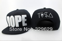 Wholesale Newest DOPE TASA Snapback adjustable hats adult s luxury baseball caps BLACK WHITE freeshipping