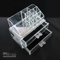 Wholesale 2pcs Clear Acrylic Cosmetic Jewellery Organizer Makeup Box Case SF